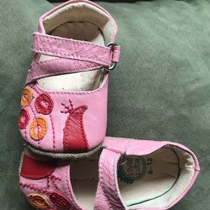 Livie and Luca Peacock Pink Red Bird Toddler Shoes